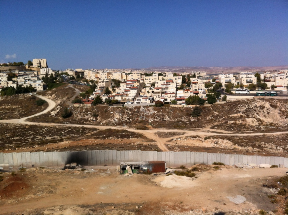 View of Pisgat Ze'ev from the Shu'afat Refugee Camp