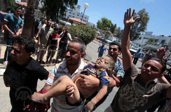 "The IDF's ""Collateral Damage"". Photo: Anadolu."