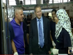 SodaStream CEO Daniel Birnbaum visits Palestinian workers in SodaStream's Maaleh Adumim Factory (Credit: YouTube)