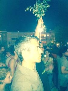 Protesting the war on Gaza. Tel Aviv. Summer, 2014