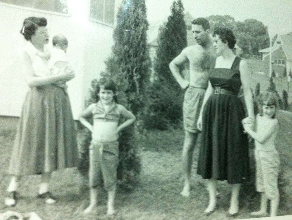 Pop, Grandmom and my aunts Carol and Bonnie, after moving to Ohio