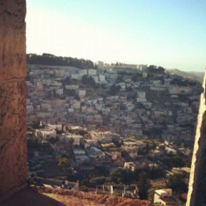 View of Silwan from the walls of the Old City
