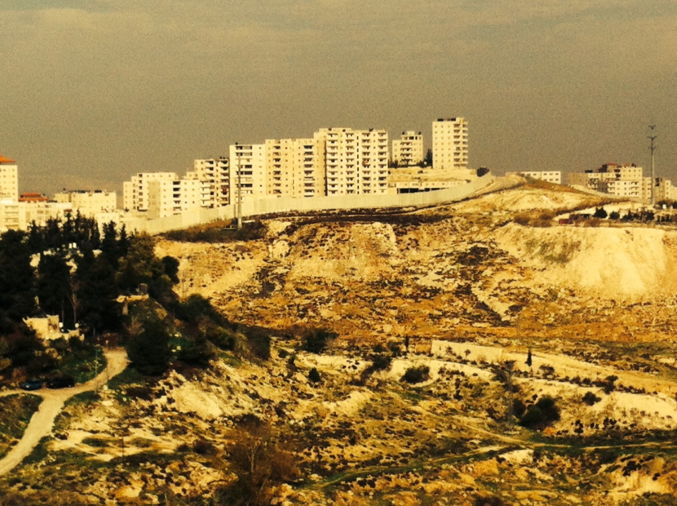 "Separation Wall & ""Mount Scopus Slopes National Park"""