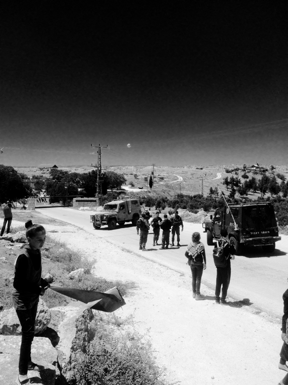 Threats, intimidation, courage, heat, steadfastness: Another day in the village of Susiya.