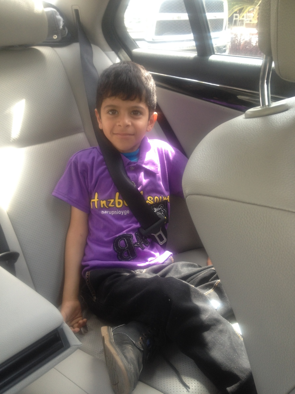 Abdallah in the car