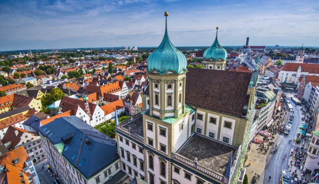 A view of the German city of Augsburg in Bavaria. Photo by Dreamstime