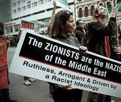 Image result for zionist same as nazist
