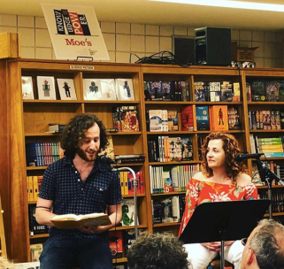 With Ayelet Waldman at Moe's Books in Berkeley, CA